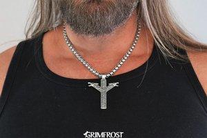 Algiz Pendant, Stainless Steel