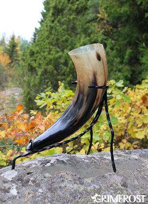 XL Trinkhorn Gestell, Handgeschmiedet