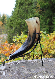 XL Drinking Horn Stand, Hand Forged