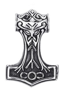 Large Thor's Hammer, Stainless Steel