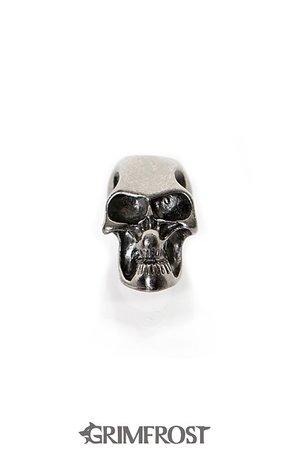 Bartperle, Dunkel Metall Schädel