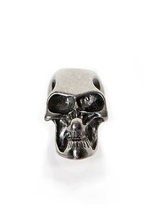 Beard Bead, Dark Metal Skull
