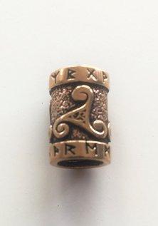 Triskele Barbe Perle, Bronze