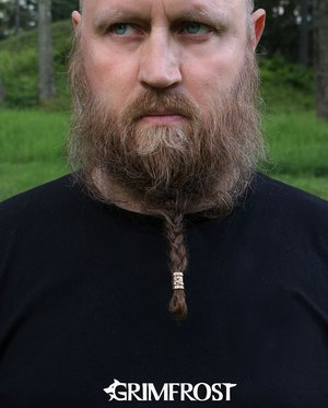 Triskele Beard Bead, Bronze