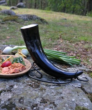 Drinking Horn Stand, Hand Forged