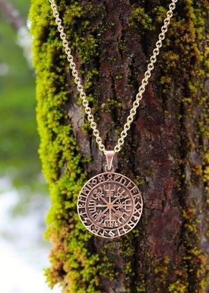 Vegvisir Amulett, Bronze