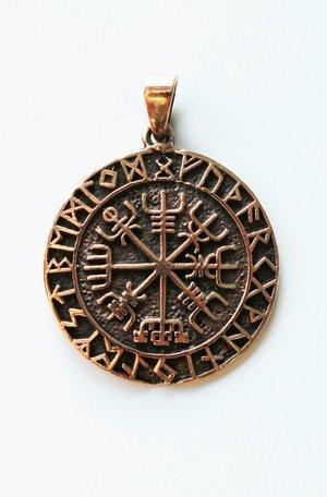 Vegvisir  Amuleto, Bronzo