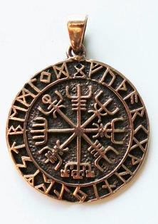 Vegvisir Amuleto, Bronce