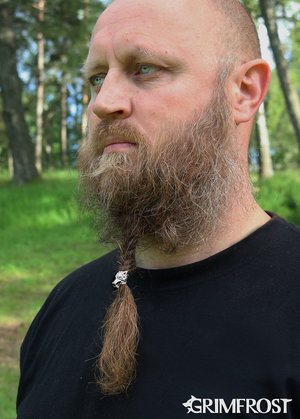 Beard Bead, Silver Wolf