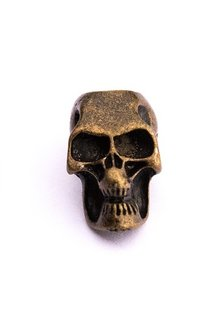 Beard Bead, Antique Gold Skull