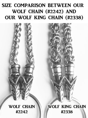 Wolf King Chain Mjölnir, Stainless Steel