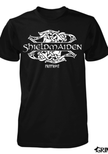 T-shirt, Shieldmaiden, Black
