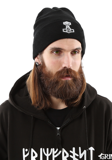 Mjolnir Watch Hat, Black Wool