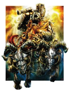 Kunstdruck Poster: Thor Rides