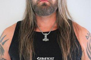 Grimfrost Martelo do Thor, Aço Inoxidável