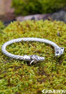 Freki & Geri Arm Ring, Zilver