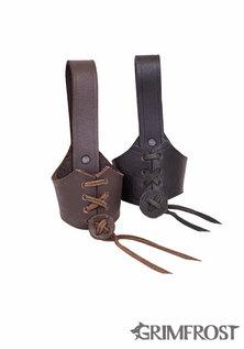 Ajustable Collier de Cuir, Petit Noir
