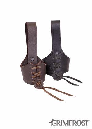Adjustable Belt Hanger, Small Brown
