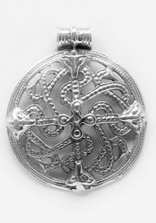 Shield Amulet, Silver