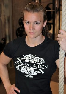 Girlie-Shirt, Shieldmaiden, Black