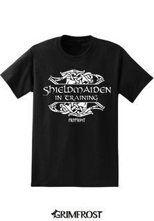 Kids T-shirt, Shieldmaiden, Black