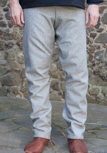 Viking Wool Trousers, Grey