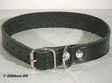 Halsband läder Alac, svart, 12 mm.