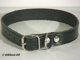 Halsband läder Alac, svart, 40 mm.