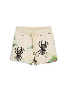 MINI RODINI INSECTS SWEATSHORTS BEIGE