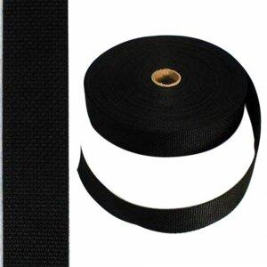 """Polyesterband, svart 1½"""""""