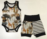 Body-linne + Shorts Djungeldjur (digital), 56