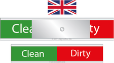 Signs for dishwasher. Clean Dirty