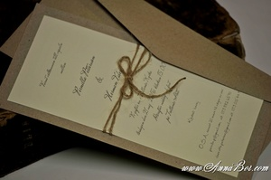 Enkla inbjudningskort bröllop. Lantligt bröllop. Vintage bröllop. Rustikt bröllop