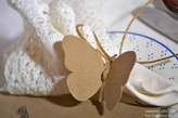 Paper Butterfly- Eco Wedding- Rustic Wedding Favor Tags