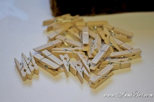 Klädnypa mini trä, Handcrafted 10 st