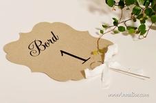 Bordsnummer Bröllop, Rustikt Bordsdekorationer Bröllop