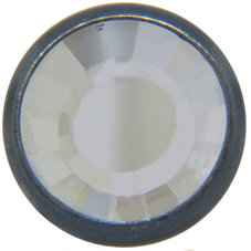 1780/100 TRYCKKNAPP Gun Metal/Crystal