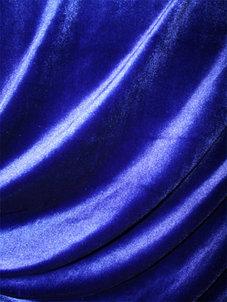 SAMMET -  blå royal