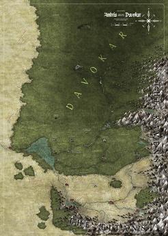 Symbaroum - Ambria and Davokar map