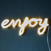Wall light sign - Enjoy