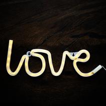 Wall light sign - Love