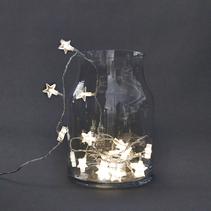 Ljusslinga med stjärnor, 30 (LED)