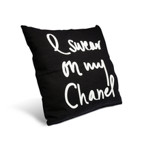 I Swear On My Chanel Noir Pillow