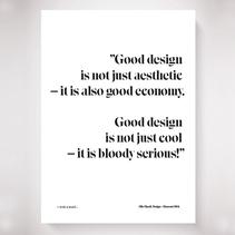 Poster design = ekonomi 1964 quote (Olle Eksell)