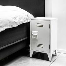 Vitt sängbord  2-pack