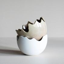 Skål Happy Easter vit - DBKD