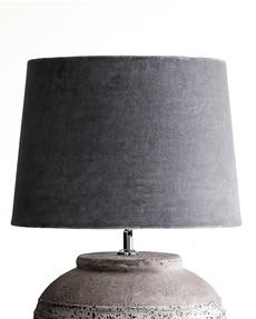 Stor lampskärm i sammet Vivienne Gråblå