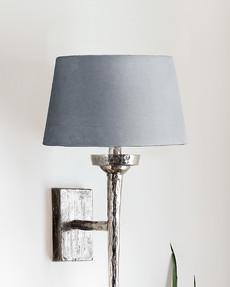 Liten lampskärm i sammet Vivienne Gråblå