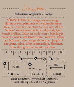 SÖMNTUTA - ORANGE