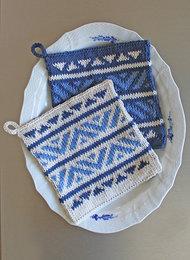 Mönster - Recycled Cotton  mönstrad grytlapp